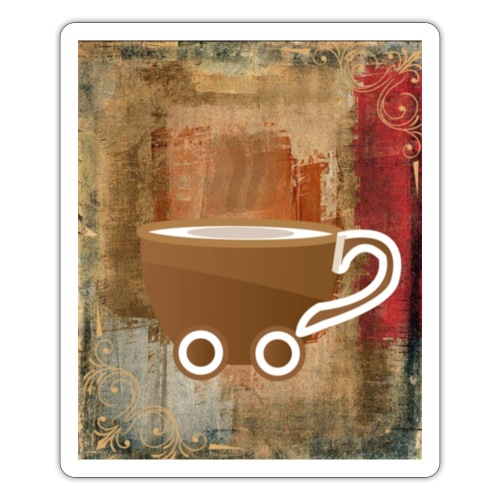vintage coffee - Sticker