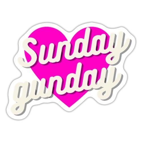 Sunday gunday - Naklejka