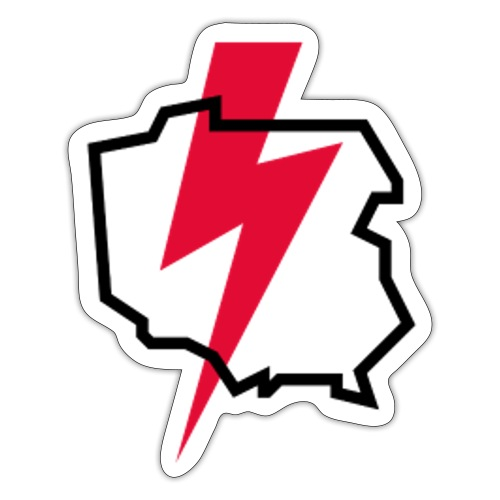 Poland thunder. Protest Ppolka - Naklejka