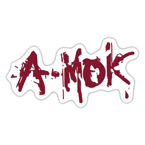 A-MOK Splash Logo Rot - Sticker
