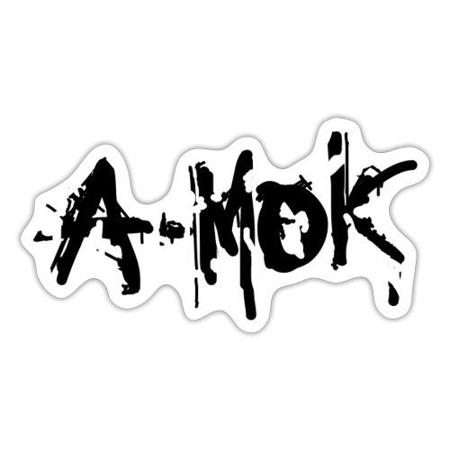 AMOK 2020 Schrift Schwarz V1 - Sticker