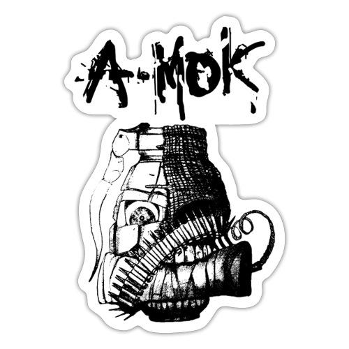 AMOK Grenade Logo Schwarz - Sticker