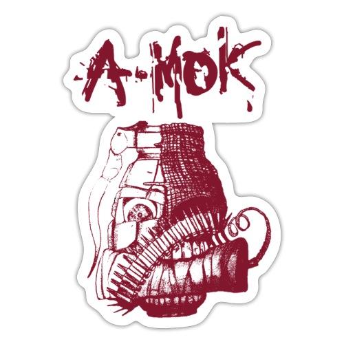 AMOK Grenade Logo Rot - Sticker