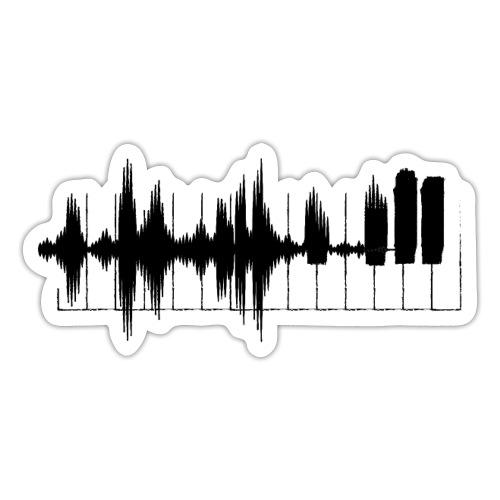 Piano, keyboard toetsen. Pianodag. Muziek. - Sticker