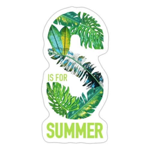 S is for summer - Sticker