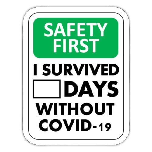 La sécurité d'abord sans Covid-19 - Autocollant