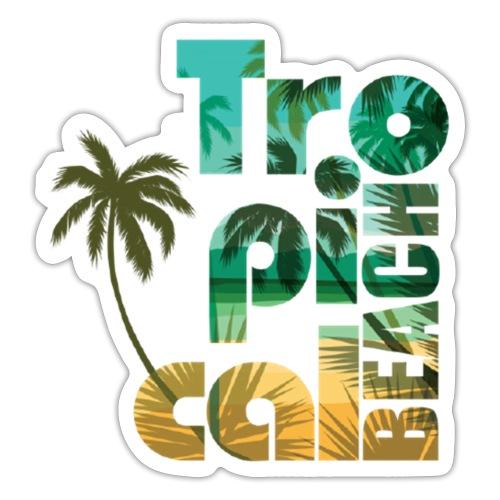 Tropical Beach - Sticker