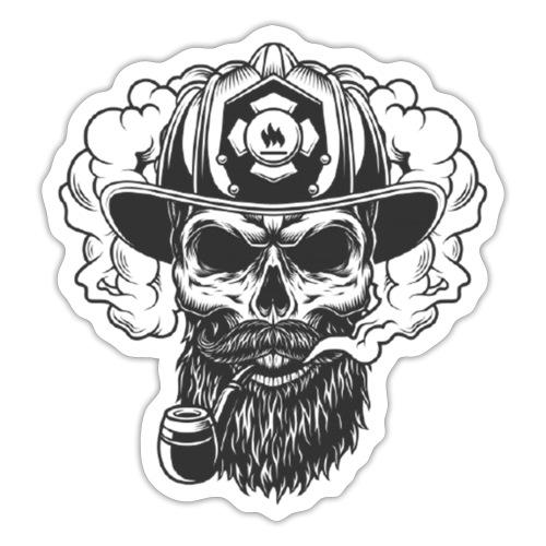 Schädel in Rauchwolke - Sticker
