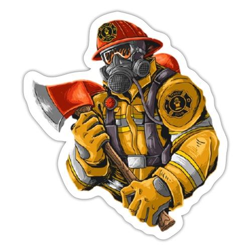 Feuerwehrmann mit Axt - Sticker