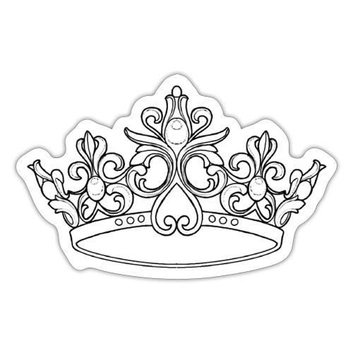 koningin kroon - Sticker