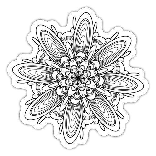 bloem mandala - Sticker