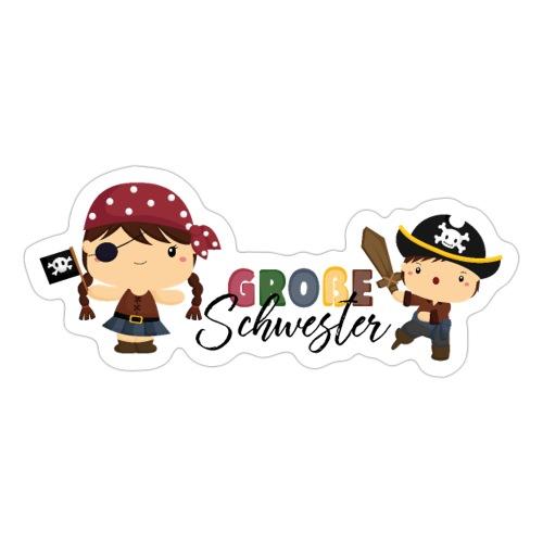 Große Schwester Piraten - Sticker