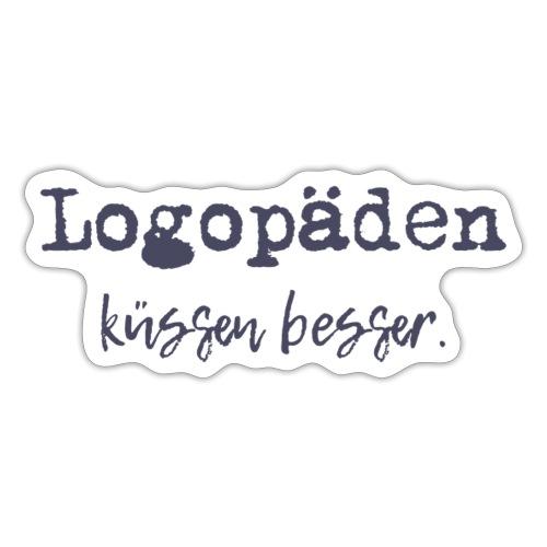 Logopäden küssen besser - Sticker