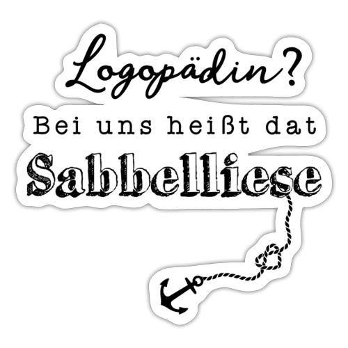 Bei uns heißt dat Sabbelliese - Sticker