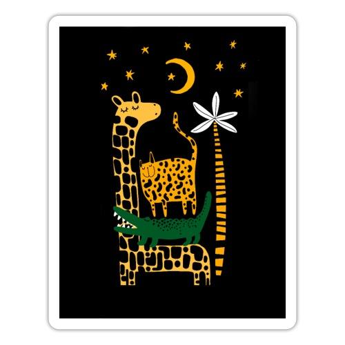 animals at night - Sticker