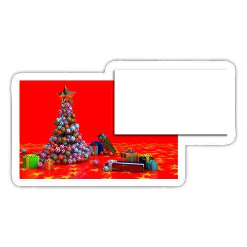sticker personnalisable pour cadeaux de Noêl - Autocollant