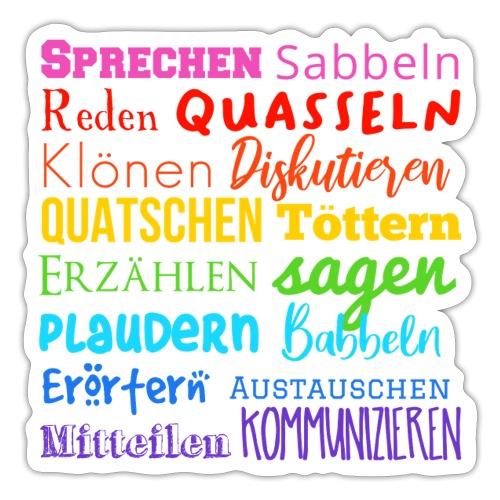 Sprechwörter Regenbogen - Sticker