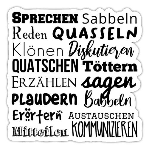 Sprechwörter schwarz - Sticker