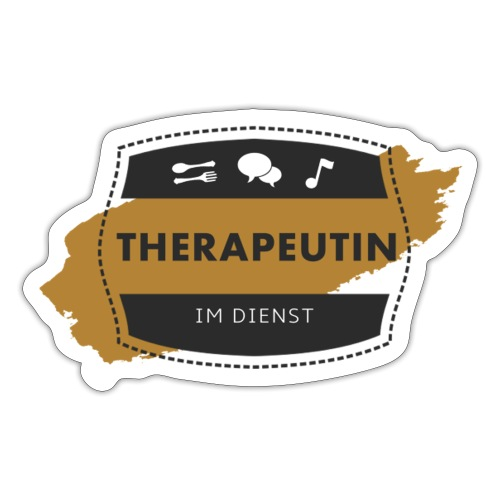 Therapeutin im Dienst - Sticker