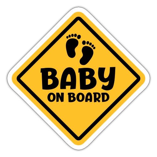 Slogan baby on board - baby aan boord Zwanger zijn - Sticker