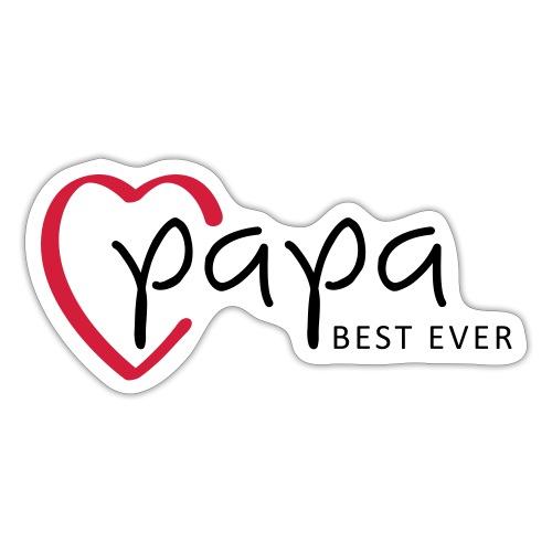 Slogan papa best ever, is mijn held. Baby cadeau. - Sticker