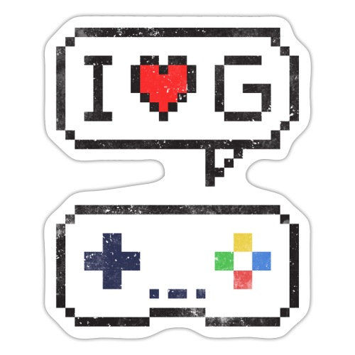 I love gaming gamer Geschenkidee zocken - Sticker