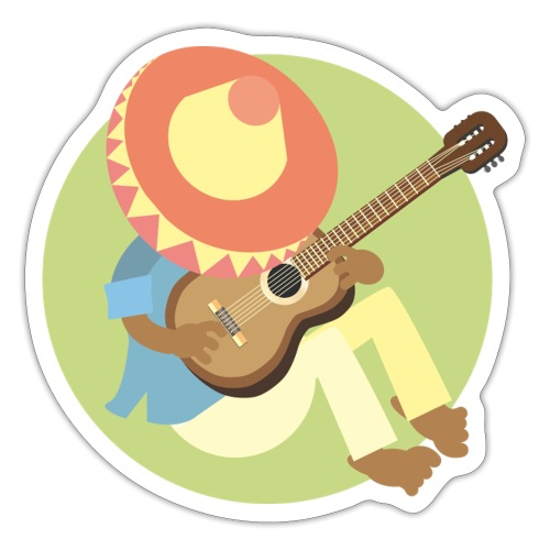 Gitarre spielen - Sticker