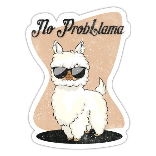 No Probllama Llama Lama Geschenkidee - Sticker