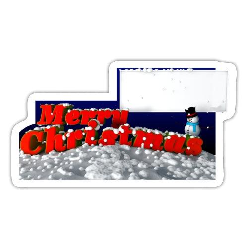Merry christmas pour stickers - Autocollant