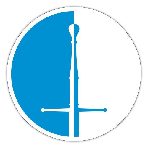 Design Logo zweifarbig - Sticker