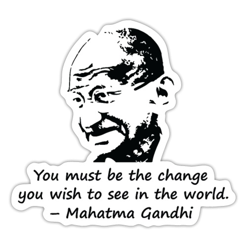 Be the Change - Sticker