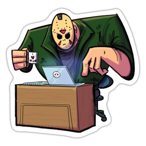 Jason Works From Home - Sticker