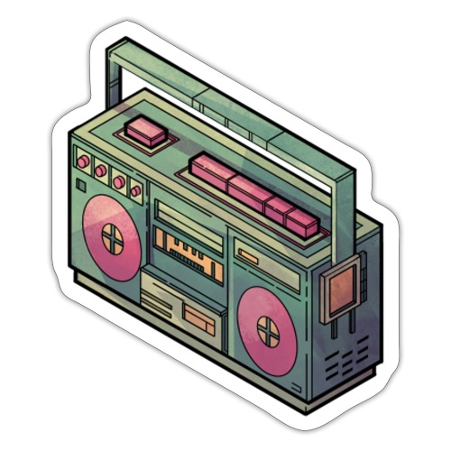 Old School Radio - Sticker