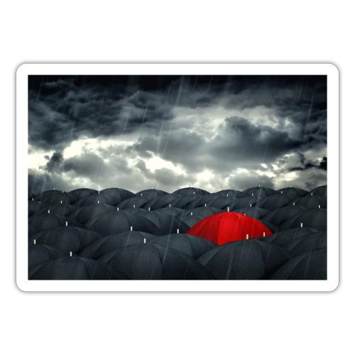 Der rote Regenschirm - Sticker