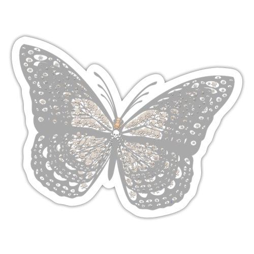 Süßer Schmetterling mit filigranen Totenköpfen - Sticker