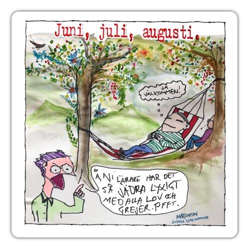 Jun-jul-aug - Klistermärke