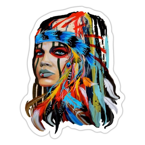 Pióra i pióropusze - Naklejka