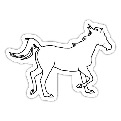 Pferd ganz, Horse - Sticker