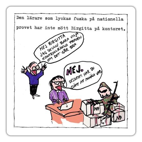 Birgitta på kontoret - Klistermärke