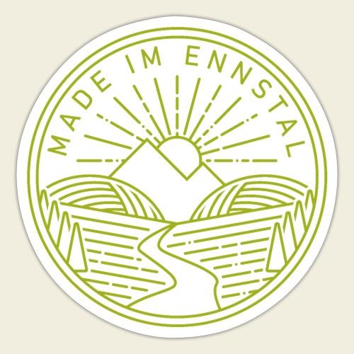 Made im Ennstal, grün - Sticker