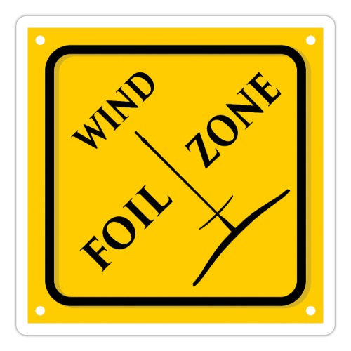 WINDFOIL zone logo stickers - Sticker