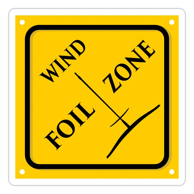 WINDFOIL zone logo stickers