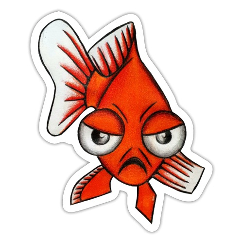 Angry Fish - Autocollant