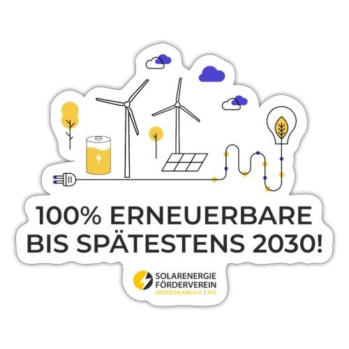 100% Erneuerbare 2030 - Sticker