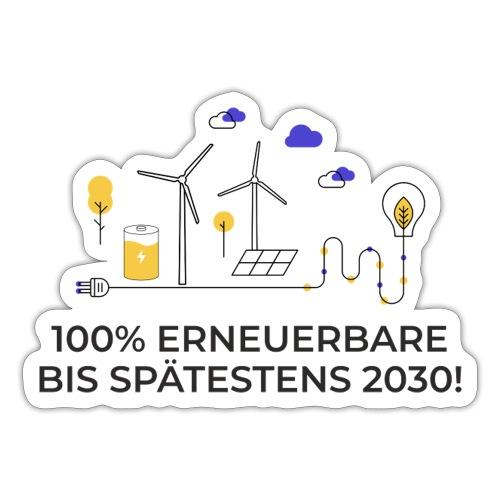 100% Erneuerbare 2030 2 - Sticker