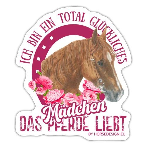 Glückliches Pferdemädchen - Sticker