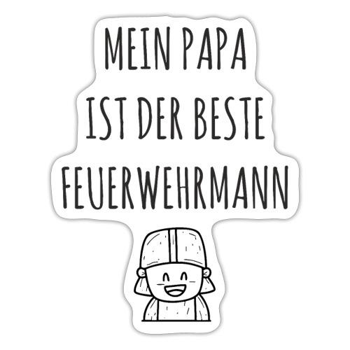 Papa Feuerwehrmann Baby lustig Shirt Geschenk - Sticker
