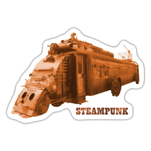 Steampunk Lokomotive Oamaru Neuseeland - Sticker