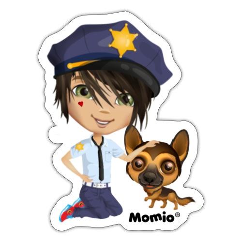 Jack and dog - av Momio Designer Cat9999 - Klistremerke