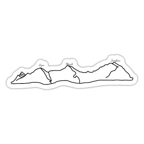 Eiger, Mönch und Jungfrau - Sticker